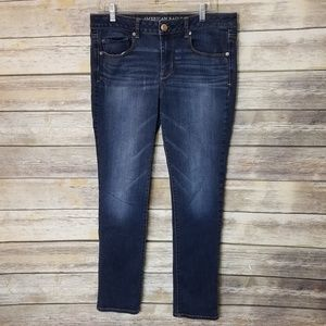 American Eagle Super Stretch Dark Skinny Jeans